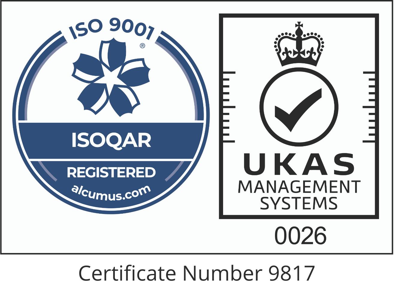 2021 Logo Certificate Number 9817